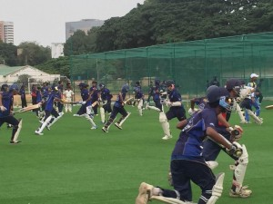 Young Cricketers Practicing at New KIOC Facility