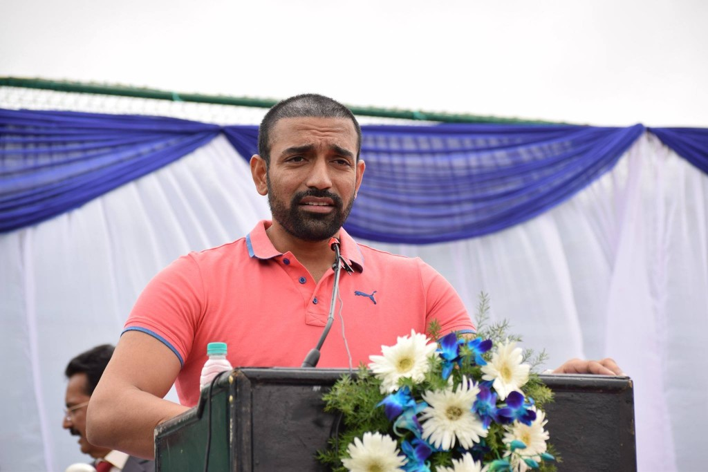 Robin Uthappa at New KIOC Inauguration