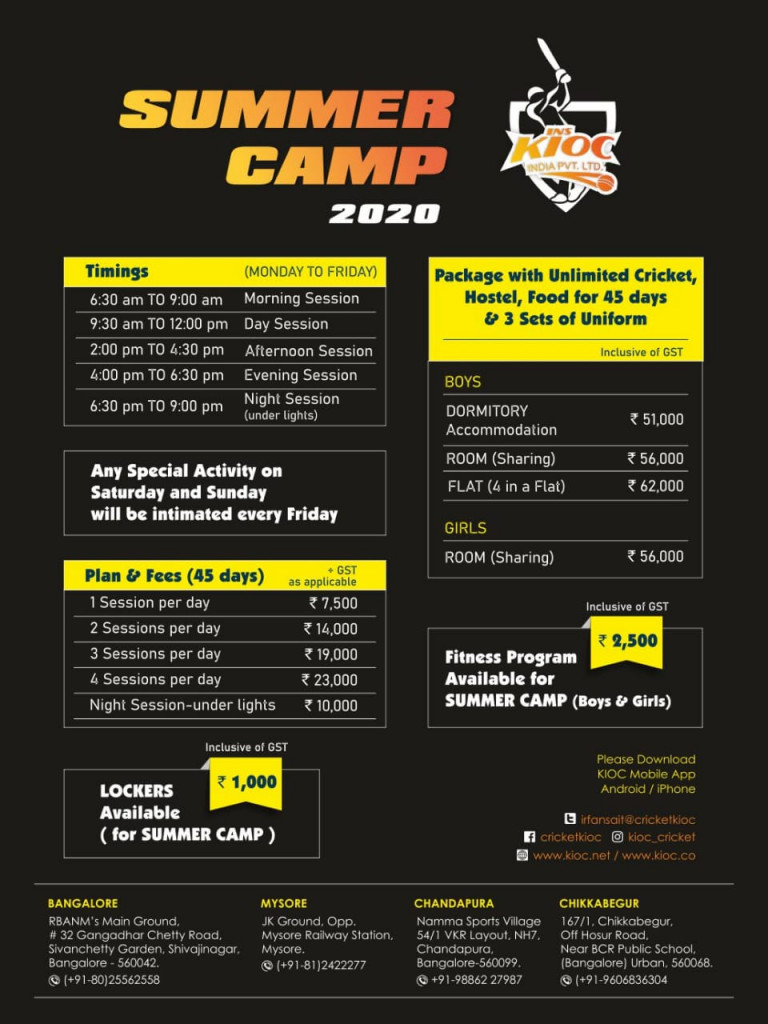 Summer Cricket Camp
